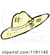 Cartoon Of A Straw Hat Royalty Free Vector Illustration