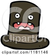 Cartoon Of A Top Hat Royalty Free Vector Illustration by lineartestpilot