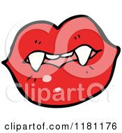 Cartoon Of A Vampire Lips Royalty Free Vector Illustration by lineartestpilot