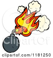 Cartoon Of A Cannonball Royalty Free Vector Illustration by lineartestpilot
