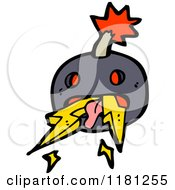 Cartoon Of A Cannonball With Lightning Bolts Royalty Free Vector Illustration