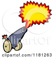 Cartoon Of A Cannon Royalty Free Vector Illustration by lineartestpilot