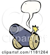 Cartoon Of A Cannon Speaking Royalty Free Vector Illustration