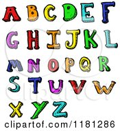 Cartoon Of The Alphabet Royalty Free Vector Illustration