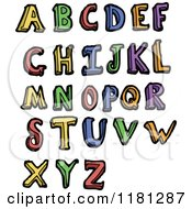 Cartoon Of The Alphabet Royalty Free Vector Illustration