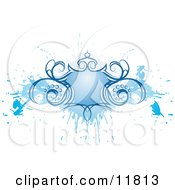 Blue Grunge Shield Design Element Clipart Illustration by AtStockIllustration