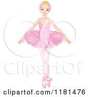 Blond Ballerina In A Pink Tutu