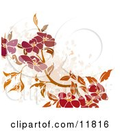 Floral Grunge Background Clipart Illustration by AtStockIllustration