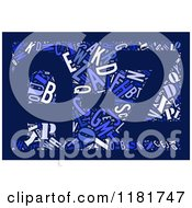 Clipart Of A Colorful English Alphabet A Through Z Collage In Blue Royalty Free Illustration by MacX