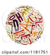 Clipart Of A Colorful English Alphabet Circle Collage 2 Royalty Free Illustration by MacX