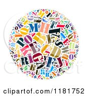 Clipart Of A Colorful English Alphabet Circle Collage 3 Royalty Free Illustration by MacX