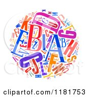 Clipart Of A Colorful English Alphabet Circle Collage Royalty Free Illustration by MacX