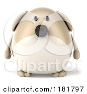 Clipart Of A 3d Chubby Dog Royalty Free CGI Illustration