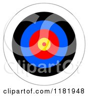 Clipart Of A Target With Colorful Rings Royalty Free Illustration