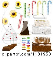 Clipart Of Cakes And Candies Royalty Free Vector Illustration