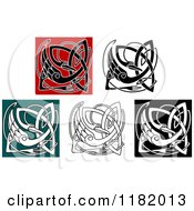 Clipart Of Celtic Stork Knots 2 Royalty Free Vector Illustration by Vector Tradition SM