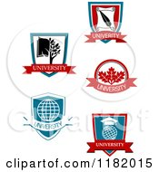 Clipart Of University Or College Heraldic Designs 2 Royalty Free Vector Illustration