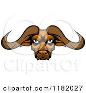 Aggressive Buffalo Head With Long Horns