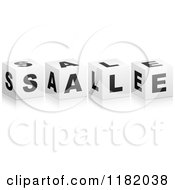 Clipart Of 3d Black And White Cubes Spelling SALE Royalty Free Vector Illustration