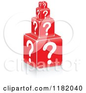 Clipart Of 3d Stacked Question Mark Cubes Royalty Free Vector Illustration