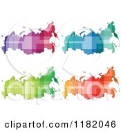 Clipart Of A Colorful Russian Maps With Patch Patterns Royalty Free Vector Illustration by Andrei Marincas