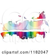 Clipart Of A Colorful Russian Map With Torn Faded Copyspace Royalty Free Vector Illustration by Andrei Marincas