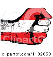 Clipart Of A Fisted Austrian Flag Hand Royalty Free Vector Illustration by Andrei Marincas