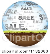 Clipart Of A Natural Sale Globe Royalty Free Vector Illustration by Andrei Marincas