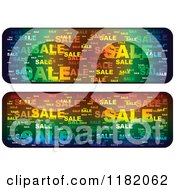 Clipart Of Gradient Colorful Sale Website Banners Royalty Free Vector Illustration