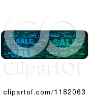 Clipart Of A Gradient Blue And Green Sale Website Banner Royalty Free Vector Illustration