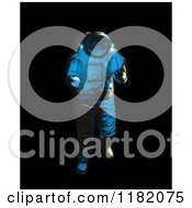 Clipart Of A 3d Weightless Astronaut Floating On Blackness Royalty Free CGI Illustration