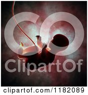 Clipart Of A 3d Human Fetus Embryo Baby Inside The Womb 2 Royalty Free CGI Illustration by Mopic