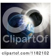 Clipart Of A 3d Solar Eclipse As Seen From Outer Space Royalty Free CGI Illustration by Mopic