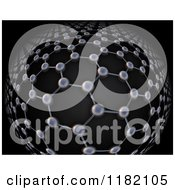 Clipart Of A 3d Graphene Atomic Structure On Black Royalty Free CGI Illustration