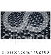 Clipart Of A 3d Graphene Atomic Structure Background Royalty Free CGI Illustration