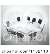 Clipart Of A 3d Puzzle Shaped Meeting Table Royalty Free CGI Illustration by Mopic