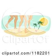 Legs Of Diverse Women On A Beach