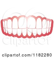 Clipart Of A Human Teeth And Gums Royalty Free Vector Illustration