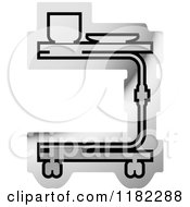 Clipart Of A Silver Medical Table Icon Royalty Free Vector Illustration by Lal Perera
