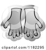 Clipart Of A Black And Silver Gloves Icon Royalty Free Vector Illustration by Lal Perera