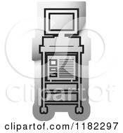 Clipart Of A Black And Silver Diagnosis Monitor Icon Royalty Free Vector Illustration by Lal Perera