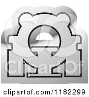 Clipart Of A Black And Silver CAT Scan Machine Icon Royalty Free Vector Illustration