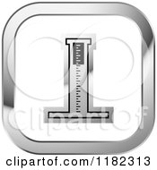 Clipart Of A Medical Measuring Device On A Silver And White Icon Royalty Free Vector Illustration