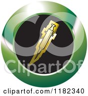 Clipart Of A Gold Syringe On A Black And Green Icon Royalty Free Vector Illustration by Lal Perera
