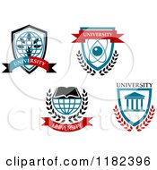 Clipart Of University Emblems Royalty Free Vector Illustration