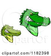 Tough Green Alligator Mascots