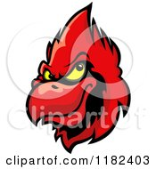Clipart Of A Red Cardinal Head 3 Royalty Free Vector Illustration