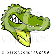 Clipart Of A Tough Green Alligator Mascot Royalty Free Vector Illustration by Vector Tradition SM