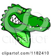Clipart Of An Aggressive Green Alligator Mascot Royalty Free Vector Illustration by Vector Tradition SM