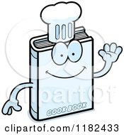 Cartoon Of A Waving Cook Book Mascot Royalty Free Vector Clipart by Cory Thoman